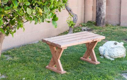 DIY X-leg bench