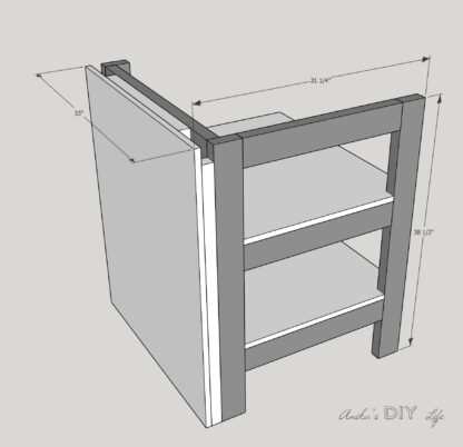 Table saw stand with folding outfeed table plans schematic
