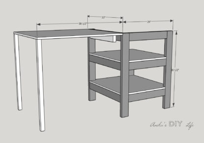 folding outfeed table open on table saw stand