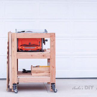 table saw stand with folded table