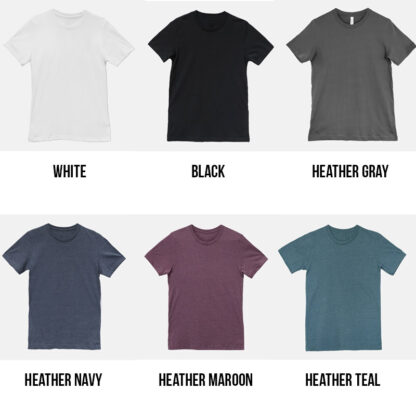 T-shirt color options for coffee sawdust repeat tshirt