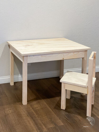 DIY Kids desk with storage and matching chair
