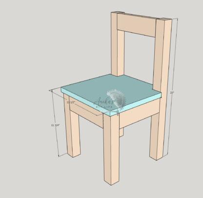 Schematic of Kids chair