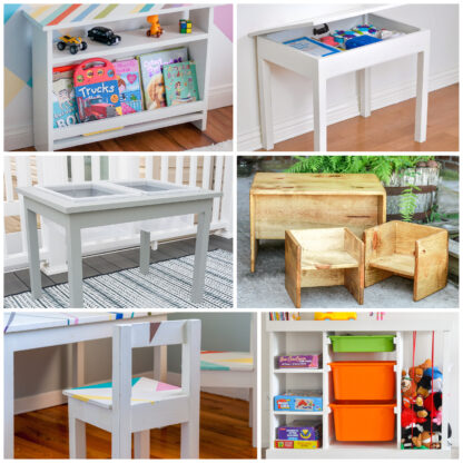 collage of kids furniture projects ideas