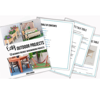 collage of outdoor project plans bundle preview