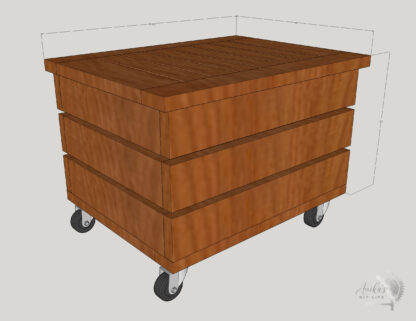 DIY Outdoor storage box plans